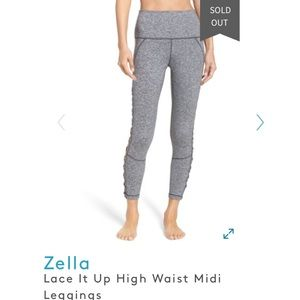 Zella lace it up high waist midi leggings